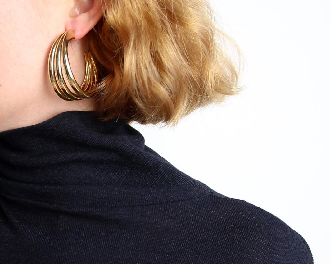 vintage gold hoop earrings from Etsystatic