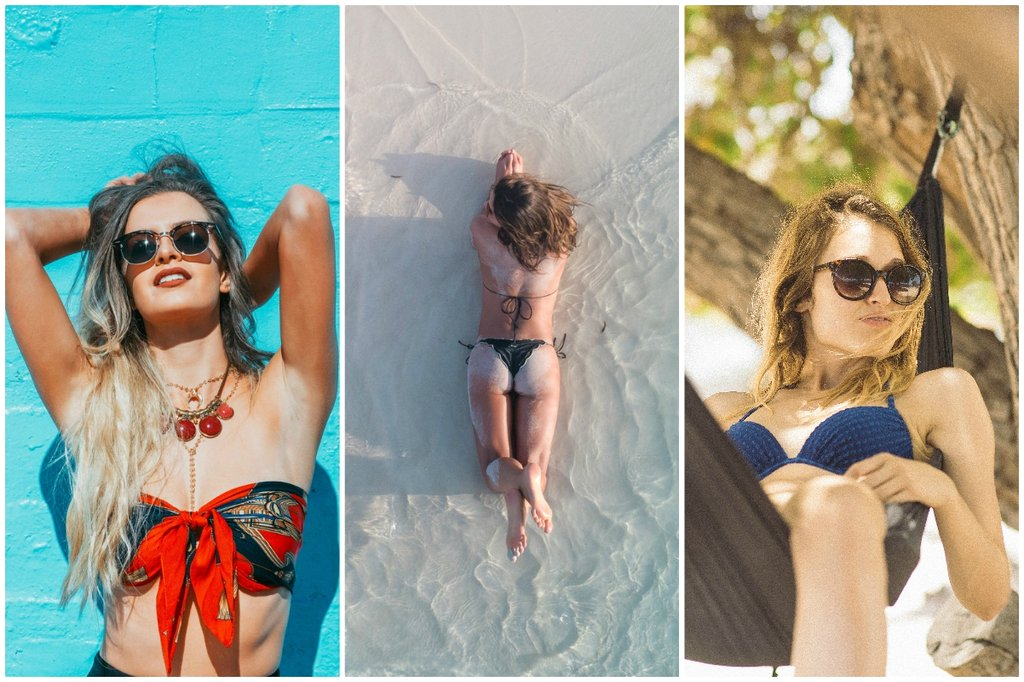 Several stylish bathing suits