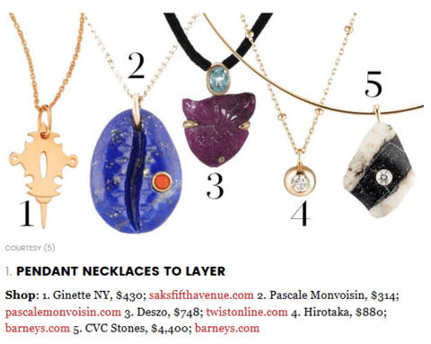 necklace selections