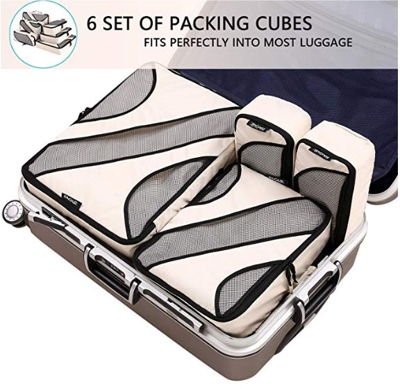 6 packing cubes
