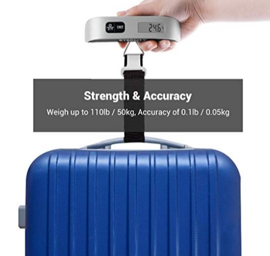 Light weight carry on luggage scale