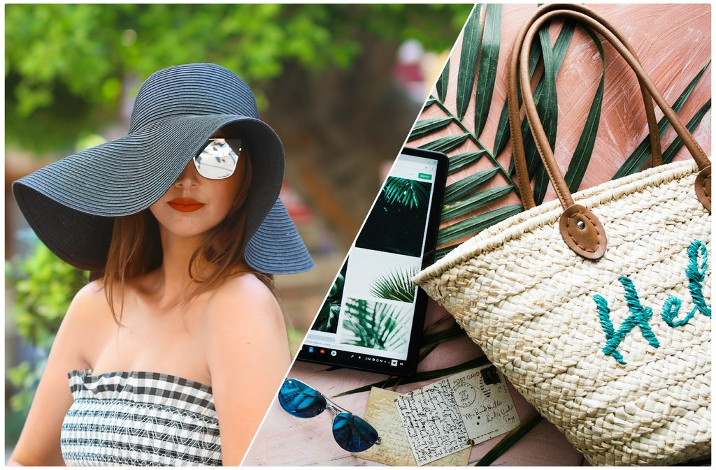 Wedges, espadrilles and straw hats